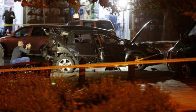 Tbilisi uzspridzināts opozīcijas politiķa auto