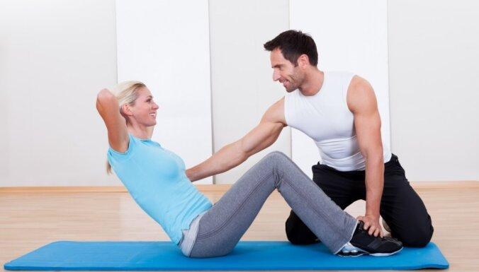 Trīs vingrojumi vēdera muskulatūrai un šmaugam viduklim