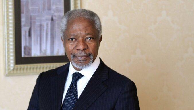 Annans aicina Asadu rīkoties nekavējoties, lai izbeigtu vardarbību Sīrijā
