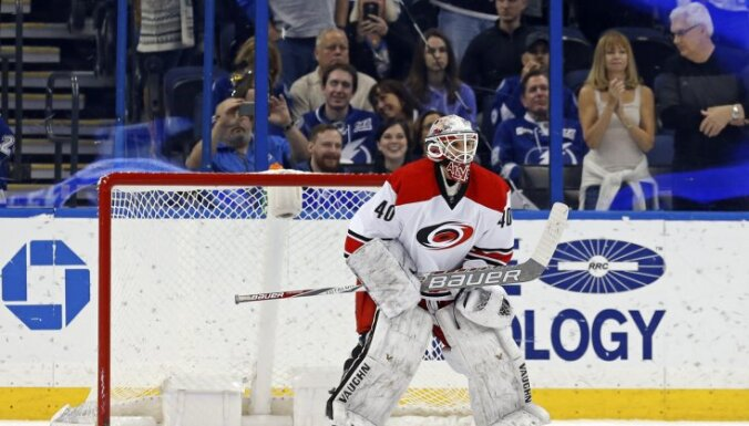 Carolina Hurricanes emergency backup goalie Jorge Alves