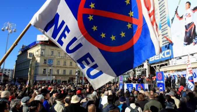 Horvātijas pirmajās EP vēlēšanās viena no zemākajām vēlētāju aktivitātēm ES vēsturē