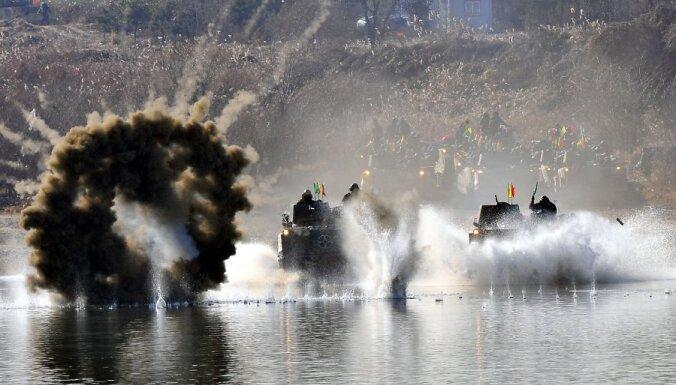 Armijas mācības netālu no Seulas.