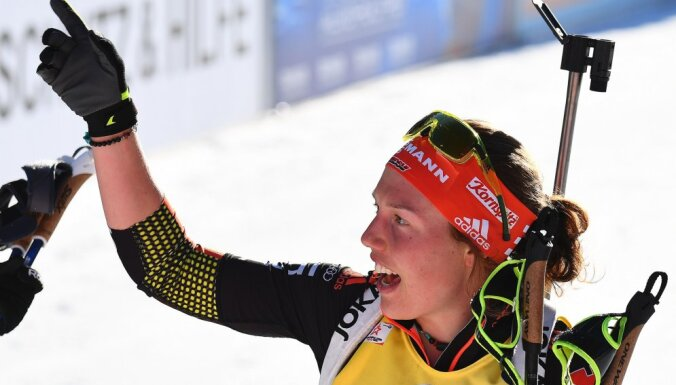 Winner Laura Dahlmeier of Germany