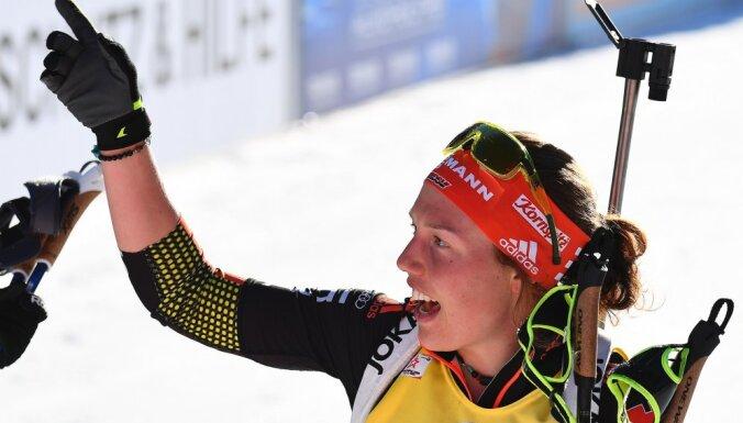 Winner Laura Dahlmeier of Germany