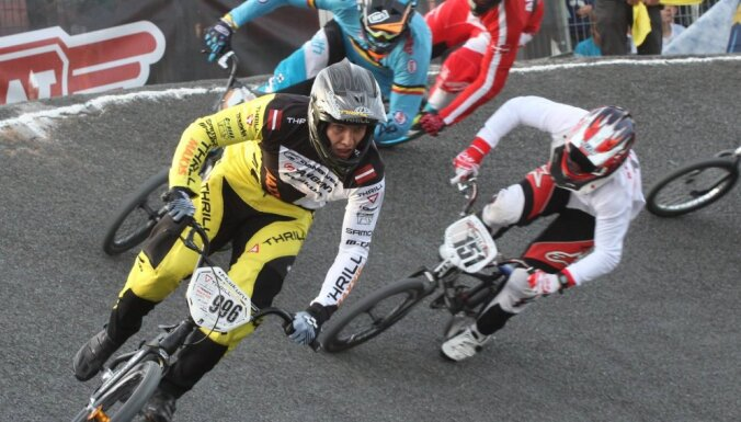Latvijas elites BMX braucēji Francijā centīsies nodrošināt visu goda pjedestālu EK kopvērtējumā