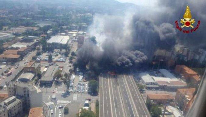 Video: Itālijā eksplodē autocisterna, divi bojāgājušie