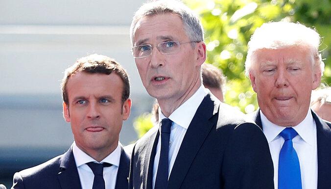 NATO šefs ar Makronu runās par 'smadzeņu nāves' izteikumu
