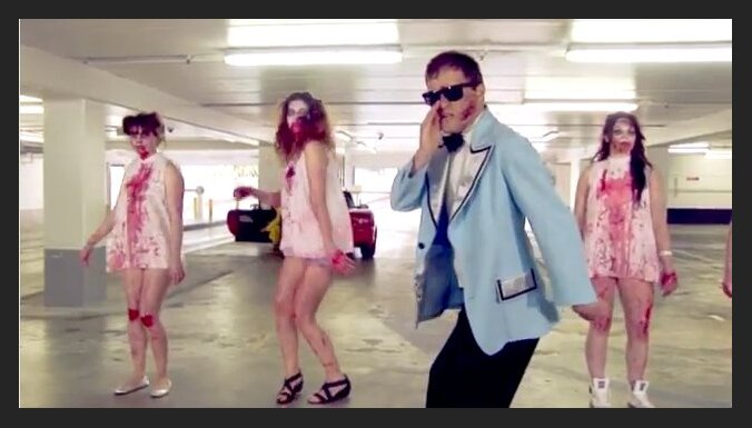 ВИДЕО: Gangnam style в стиле зомби