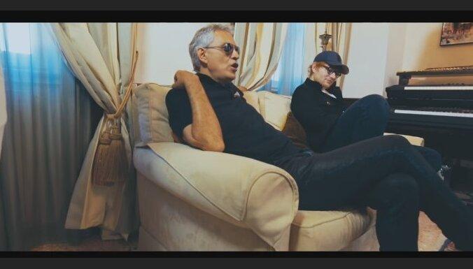 Noklausies! Eds Šīrans ierakstījis dziesmu kopā ar Andrea Bočelli
