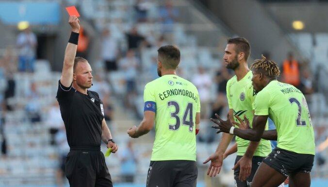 'Riga FC' paliek mazākumā un minimāli zaudē Čempionu līgas kvalifikācijas mačā Malmē
