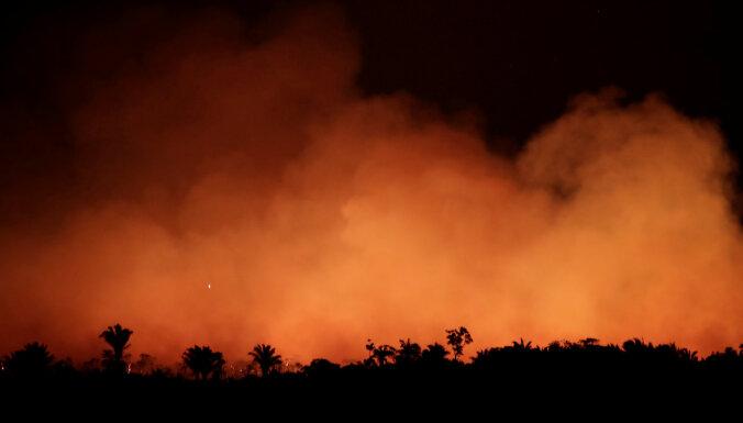 Бразилию застилает дым от горящих лесов Амазонии. В Сан-Паулу день превратился в ночь
