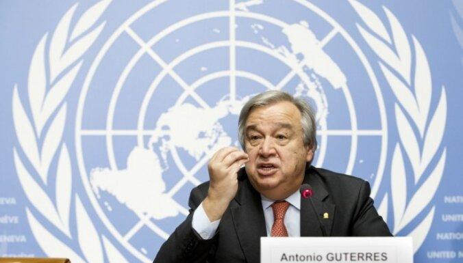 ANO Drošības padome nominē bijušo Portugāles premjerministru ANO ģenerālsekretāra amatam
