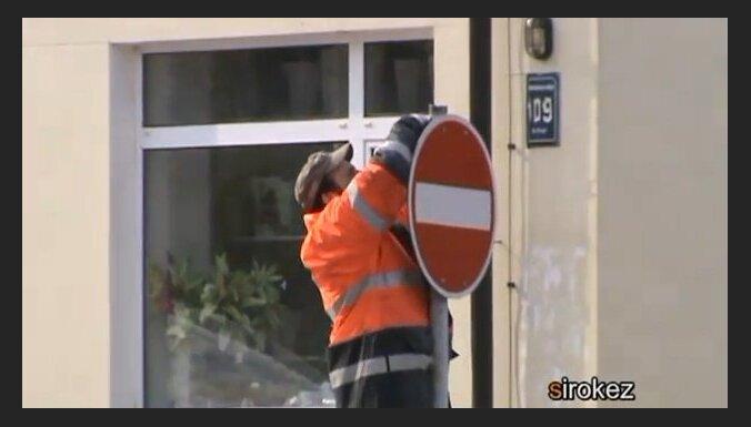 В Резекне взялись за центральную улицу - город встал (видео)