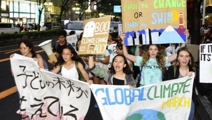 Vispasaules streikā, lai pievērstu uzmanību vides problēmām, piedalījušies četri miljoni cilvēku