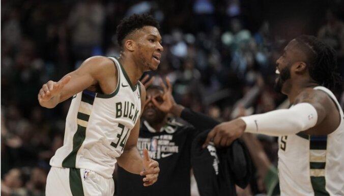 Jauns NBA rekords: 'Bucks' jau februārī nodrošina dalību 'play off'