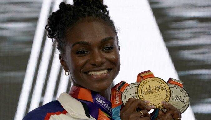 Dohā laboti seši čempionāta rekordi, 43 valstīm izcīnot godalgas