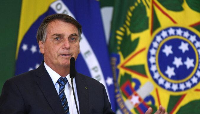 Covid-19: Bolsonaru tautiešus mudina nečīkstēt par mirstības palielināšanos