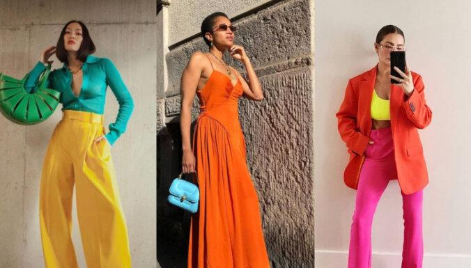 Drosmīgi un pārsteidzoši - kādu krāsu apģērbus valkāt šovasar