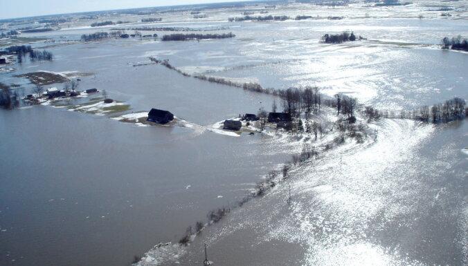 LVĢMC šopavasar lielus plūdus neprognozē