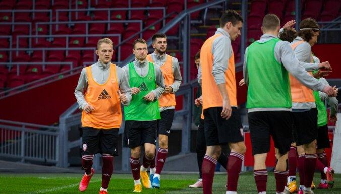 Trīs potenciālie debitanti izsaukti uz Latvijas futbola izlasi mačiem jūnijā