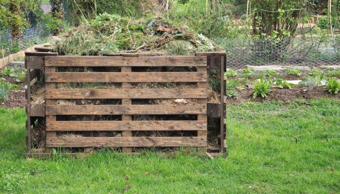 Piecas idejas komposta tvertnes ierīkošanai dārzā