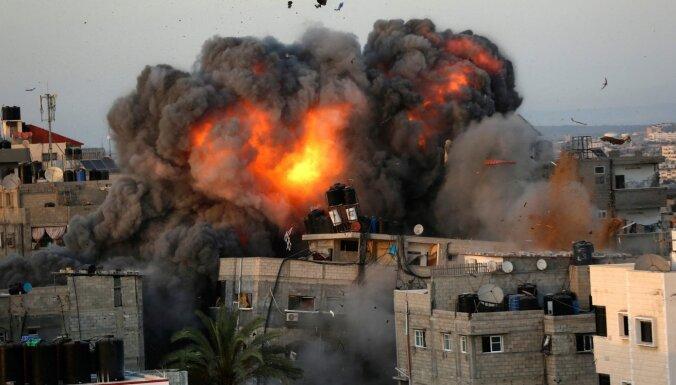 Izraēla veikusi gaisa uzlidojumu 'Hamas' Gazas joslas līdera Jahjas Sinvara mājai