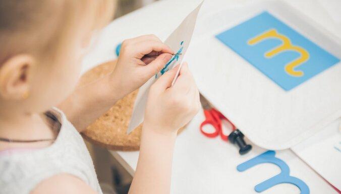 Piecas rotaļas Montesori manierē bērna lasītprasmes veicināšanai