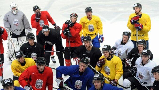 Latvijas hokeja izlase aizvadīs pirmo pārbaudes spēli pirms PČ