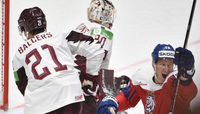 Ударный первый период не помог сборной Латвии обыграть чехов на чемпионате мира
