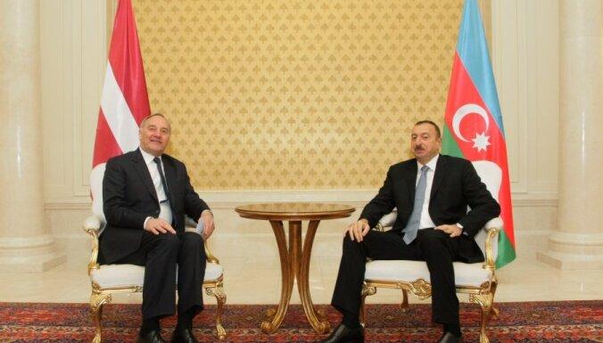 Alijevs: Latvijai un Azerbaidžānai nopietni jāstrādā savstarpējās tirdzniecības palielināšanai