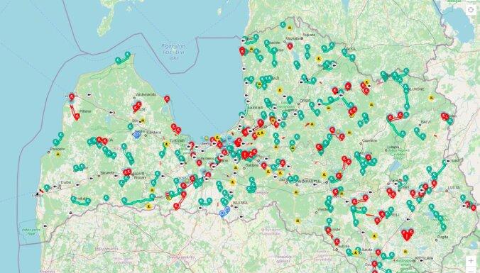 Ремонты дорог — по всей Латвии: ограничено движение на Юрмальском, Елгавском и Видземском шоссе