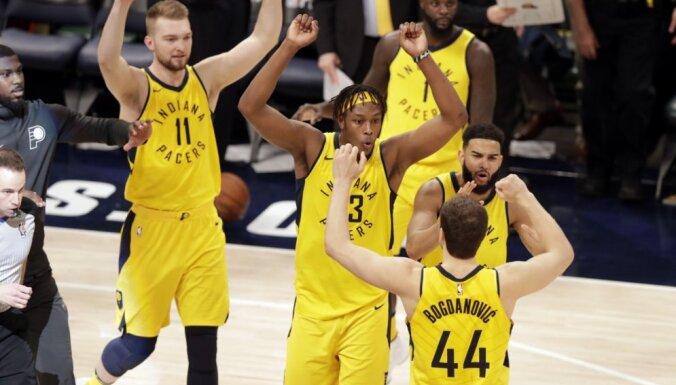 'Pacers' atspēlējas un pārņem vadību NBA izslēgšanas spēļu sērijā pret 'Cavaliers'