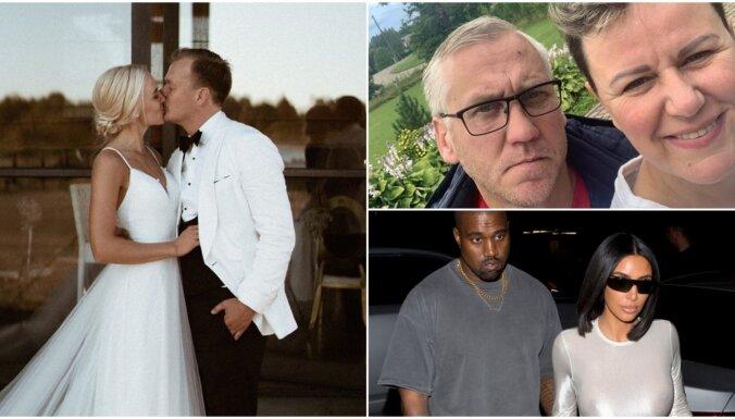 Nedēļas trakumi: Lepera kāzas, Mūrniecei jauna mīla, skandāls Kardašjanu klanā