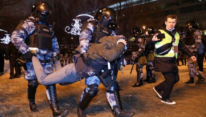 МИД: Латвия призывает Россию незамедлительно освободить участников протестов 23 января