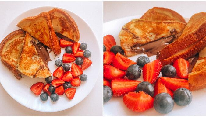 Foto recepte: maizītes ar 'Nutellas' pildījumu un ogām