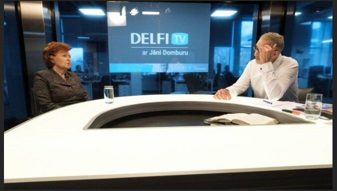 """Вике-Фрейберга на Delfi TV: я не читала содержимое """"мешков ЧК"""", так как не понимаю по-русски"""