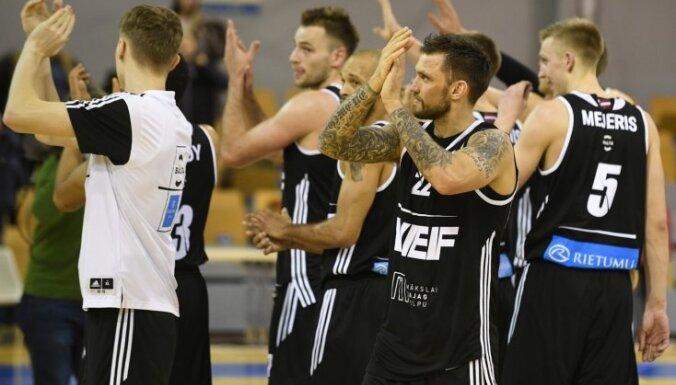 'VEF Rīga' spraigā Vienotās līgas spēles galotnē uzvar 'Ņižņij Novgorod'