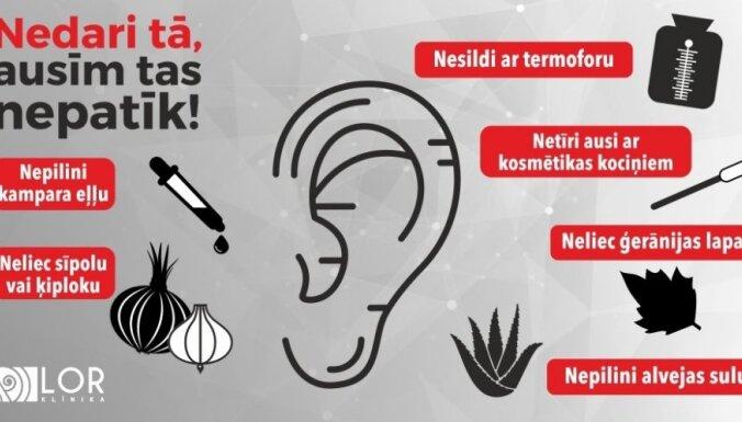 Otolaringoloģe: Nē sīpoliem un ģerānijām ausīs!
