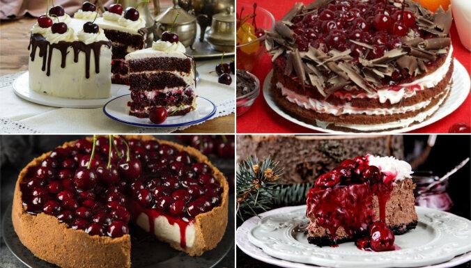 Ķiršu sezonas kārdinājumā: 14 tortes un kūkas ar sulīgajām ogām