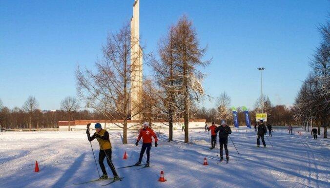 В Риге открылись общественный каток и две лыжные трассы