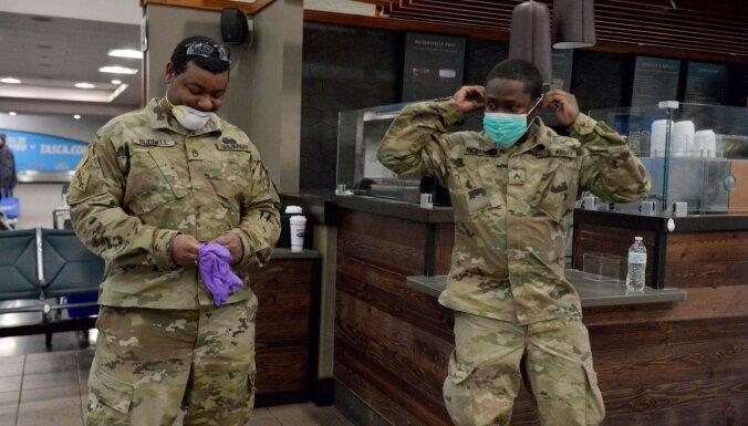 Covid-19: inficējušies vairāk nekā 1000 ASV karavīri
