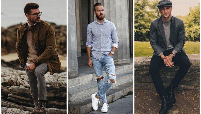 Vizuāli garāks un slaidāks: augumam atbilstoši ģērbšanās knifi vīriešiem