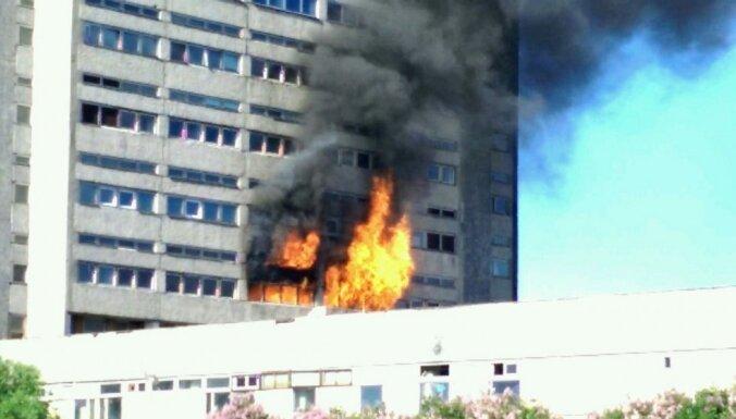 Imantā izcēlies ugunsgrēks bijušās Radio rūpnīcas ēkā