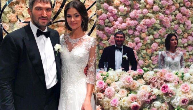 Aleksandrs Ovečkins krāšņi nosvinējis kāzas