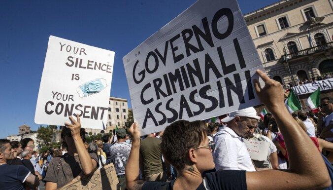 В Риме и Загребе прошли демонстрации против коронавирусных ограничений