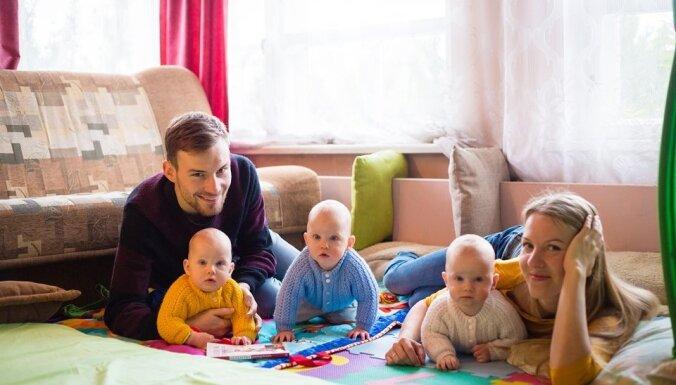 Trīnīšu tētis Ēriks Bauers: bērni ir jāradina pie darba un disciplīnas