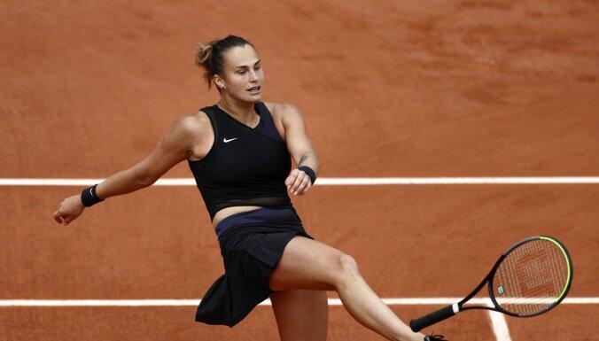 'French Open': Ar trešo numuru izliktā Sabaļenka cieš zaudējumu trešajā kārtā