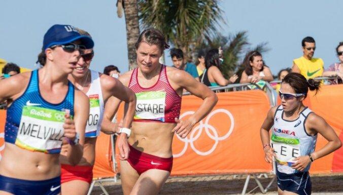 Soļotāja Pastare Rio olimpiskajās spēlēs 20 km distancē neiekļūst TOP 50