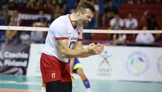 Сборная Латвии по волейболу впервые за 26 лет пробилась на чемпионат Европы