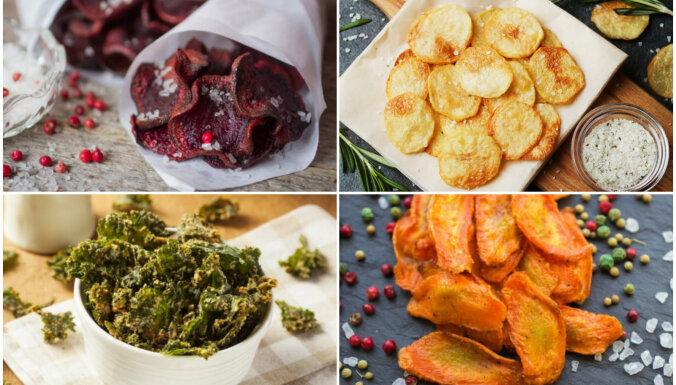 Figūrai draudzīgi čipsi – no kartupeļiem, bietēm, lavaša un pat nori lapām